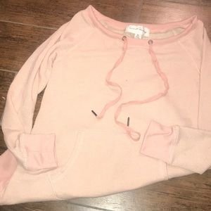 French laundry light pink pocket sweatshirt
